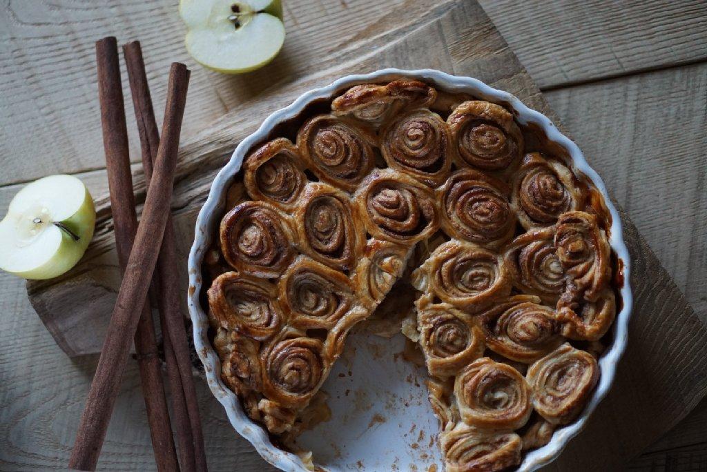 Zimtschnecken Apfel Pie - Schlemmerkatze